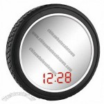 Tyre LED Mirror Clock