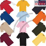 US Basic Super Heavy T Shirts Colours
