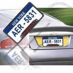 USA Car Plate with LED Sign