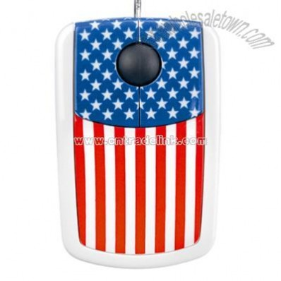 USA Flag Optical Mouse