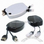 USB /LAN Retractable Cable Cases