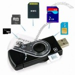 USB 2.0 SIM Card & SD/MMC Memory Card Reader