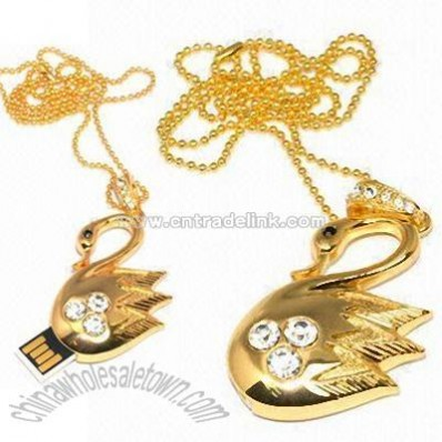 USB Crystal-encrusted Fashion Pendants Flash Memory