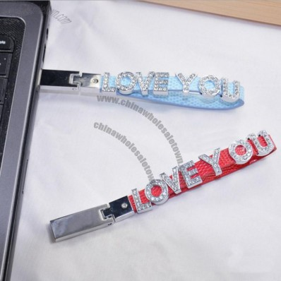 USB Flash Drive Mobile Strap with Personalized Text