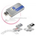 USB Flash With Laser Pointer / LED Light