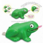 USB Frog with Rotatable Eyes and Protruding Tongue