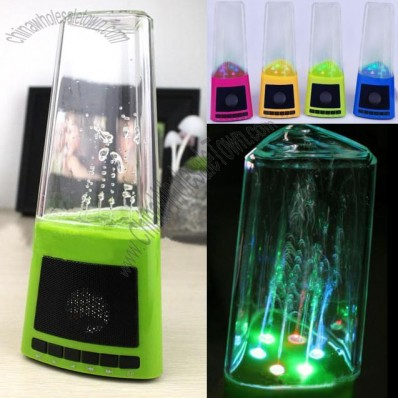 USB LED Colorful Fountain Speaker Digital Audio Player