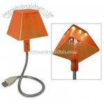 USB LED Lamp with Flexible Metal Neck