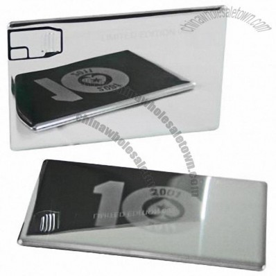 USB Mirror Metal Credit Card Flash Drives