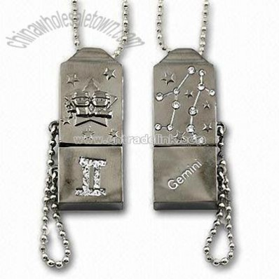 USB Necklaces Flash Drive with Horoscope Series
