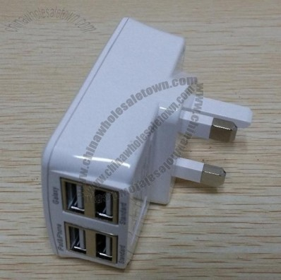 USB Power Adapter with Four USB Port