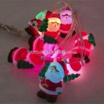 USB Santa String with LED Color Changing Light