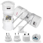 USB Translucent Universal World Travel Adapter