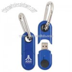 USB flash drive with sturdy carabiner