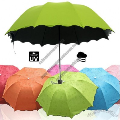 UV Color Changing Folding Umbrella