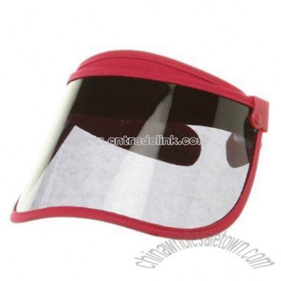 UV Cut Clip On Adjustable Visor-Fuchsia