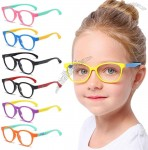 UV400 Anti Radiation Flexible Silicone Frame Anti Blue Light Glasse Safety Eyeglasses Video Gaming Glasses Kids Computer Glasses