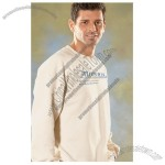 Ultra Cotton Blend Custom Crewneck Sweatshirt - White