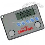 Ultra slim credit card size pedometer