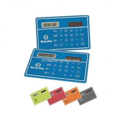 Ultra-slim credit card size solar calculator