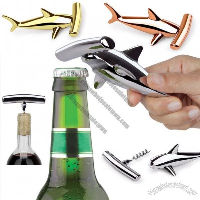 Umbra Creative Shark Hammerhead Bottle Opener & Corkscrew