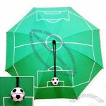 Umbrella With Football Pitches Printing