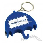 Umbrella shape tape measure key chain
