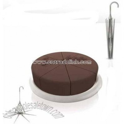 Umbrella-shaped cake cutter