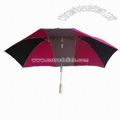 Umbrella with Double Aluminm Shafts