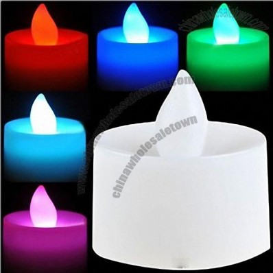 Unique 7 Colors Auto-Changing LED Electronic Candle Light