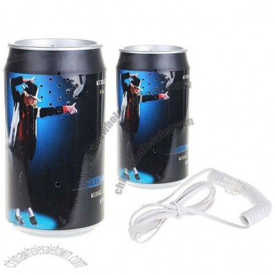 Unique Michael Jackson Patterned Can Land Line Telephone