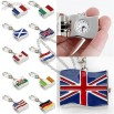 Unisex National Flag Style Alloy Analog Quartz Keychain Watch