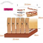 Unisex Reading Glasses with Case and 25pcs Display Stand