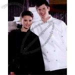Unisex Ten Button White Casual Style Chef Coat