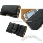Universal Leather Case for Blackberry 8300 Black Pouch
