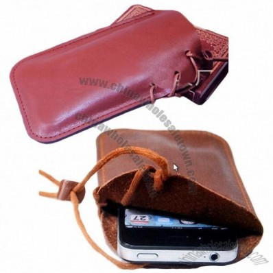 Universal Leather Cellphone case with a Hang Rope