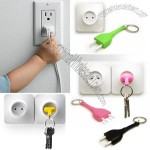 Unplug Key Ring Plug Keychain