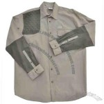 Upland Bird Hunting shirt with contrast sleeve
