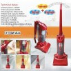 Upright Steam & Vacuum Cleaner With Sweeper - 3 in 1