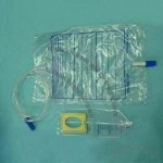 Urine Bag with Conical Connectors and Protective Caps