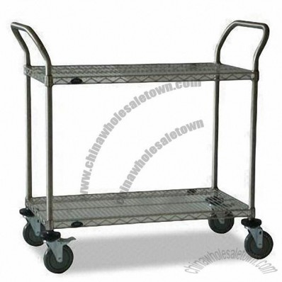 Utility Cart with U-frame Handle and 600lbs Loading Capacity