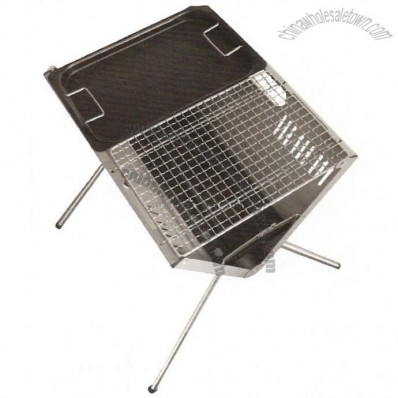 V Style BBQ Grill with Mesh