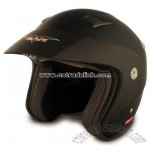 VCAN Flat Black Medium Metro Scooter Helmet