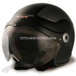 VCAN Milano Flat Black Medium European Styled Scooter Helmet
