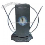 VHF & UHF Indoor Antenna with Clock