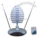 VHF & UHF Remote Controlled Rotating Antenna Indoor Antena