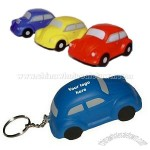 VW Bug Car Shaped Stress Reliever Key Holder