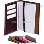 Vaquetta leather note pad cover with note pad