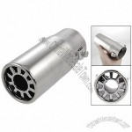 Vehicle Car Auto Exhaust Extension Pipe Silencer Muffler Silver Tone