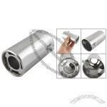 Vehicle Car Auto Universal Exhaust Pipe Silencer Muffler Silver Tone